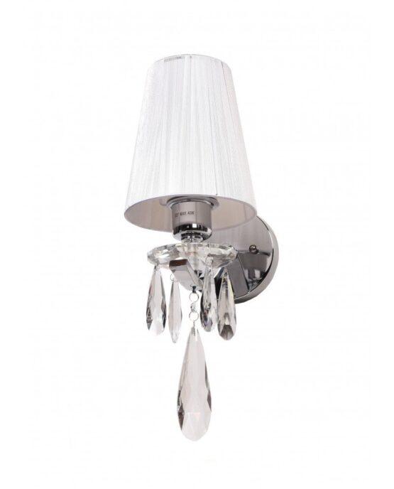 Applique a muro 1 luce con goccia di cristallo ALESSIA stile classico