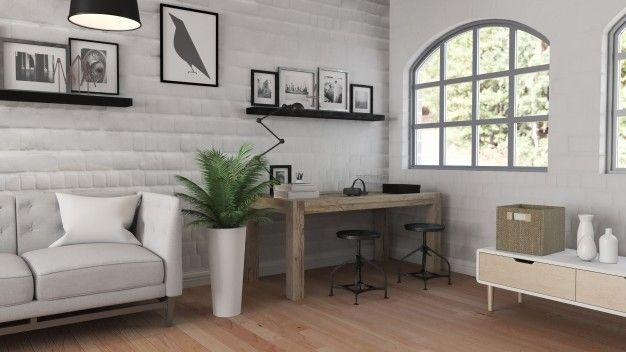 Arredo minimalista soggiorno
