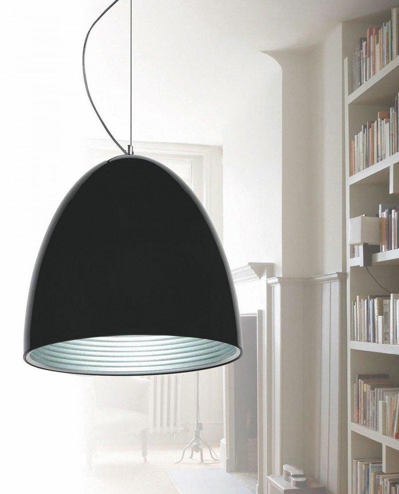 lampada a sospensione esclusivi in offerta metallo nero lucido 1 test