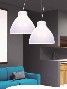 lampada da soffitto cornella bianca