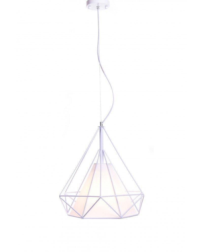 lampada poligonale in metallo bianca 3 test