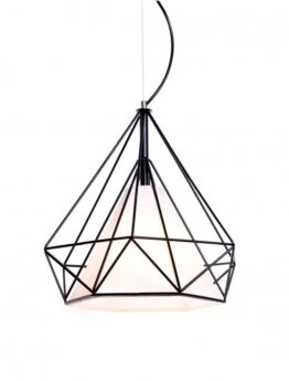 lampadario design gabbia metallo nero