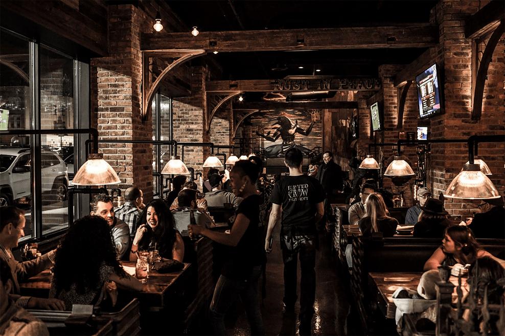 Illuminazione per ambienti rustici case bar pub e ristoranti