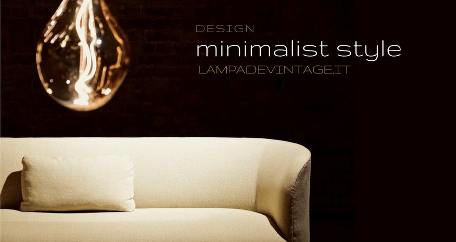 Stile minimalista per arredare con illuminazione
