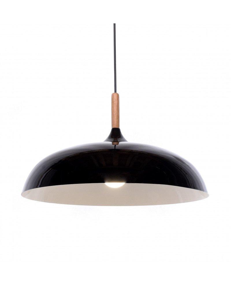 lampadario in stile retro vintage metallo e legno nero 5 test