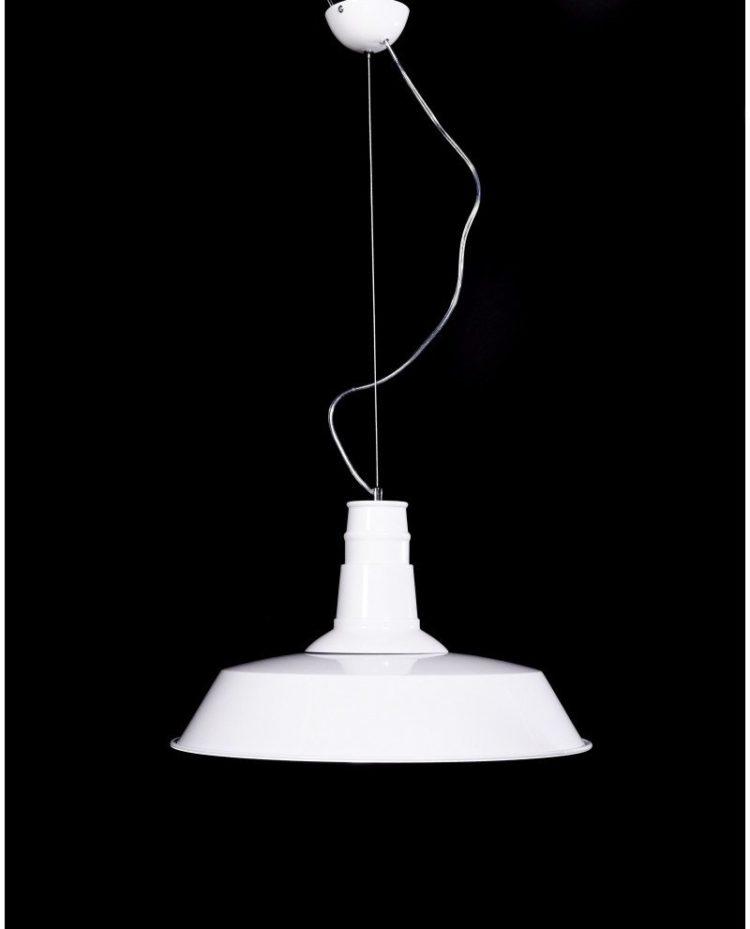 lampadario metallo vintage bianco industriale