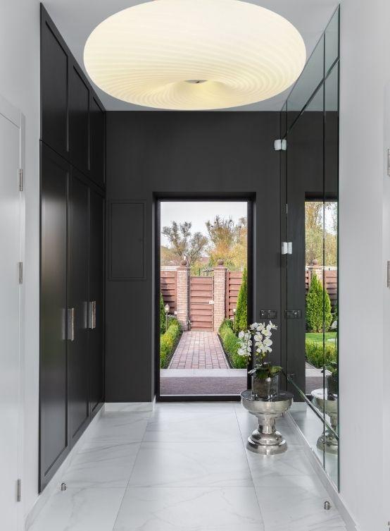 plafoniere corridoio moderne bianche