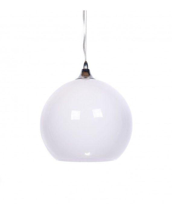 lampada a sospensione vintage in vetro bianco retro