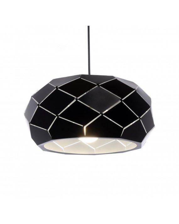 Lampada a sospensione Rokka di colore nero design esclusivo