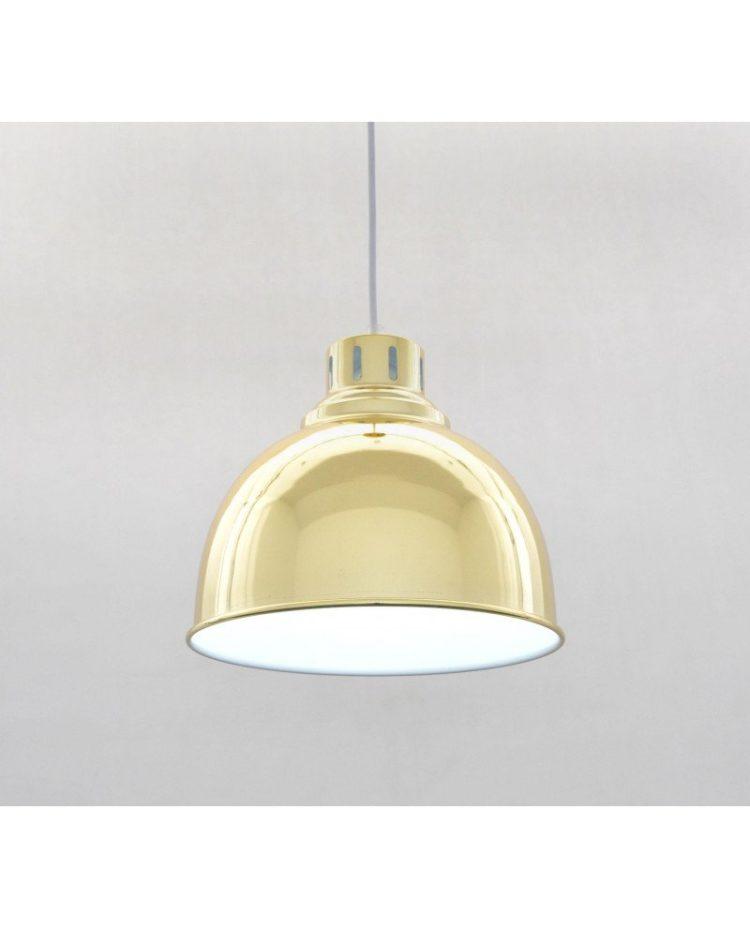 Lampada a sospensione anni 50 stile moderno dorata