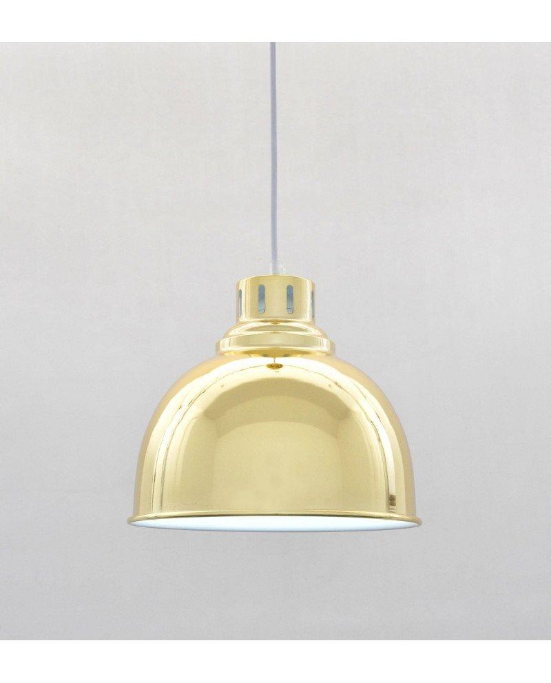 Lampada a sospensione anni 50 stile moderno dorata 5 test