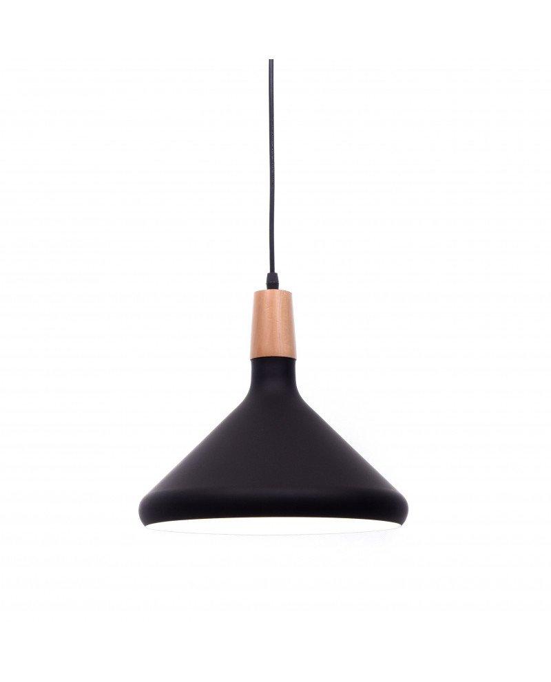 Lampada a sospensione metallo nero per illuminare ristoranti pub test