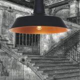 Lampadario rame rustico vintage a sospensione soffitto