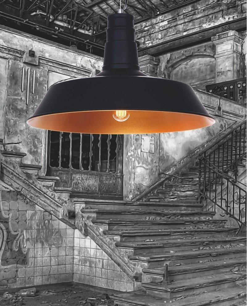 Lampadario rame rustico vintage a sospensione soffitto 7 test