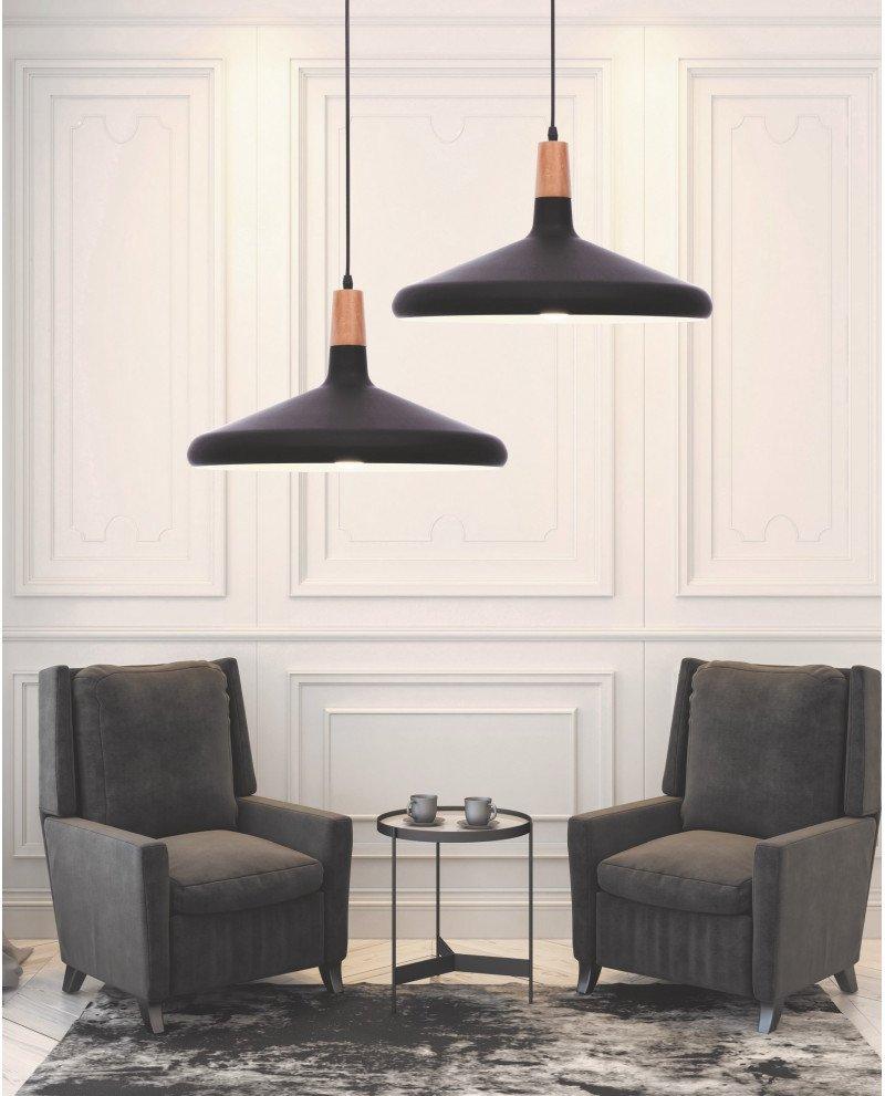 lampada a sospensione in metallo nera per ufficio economica 2 test