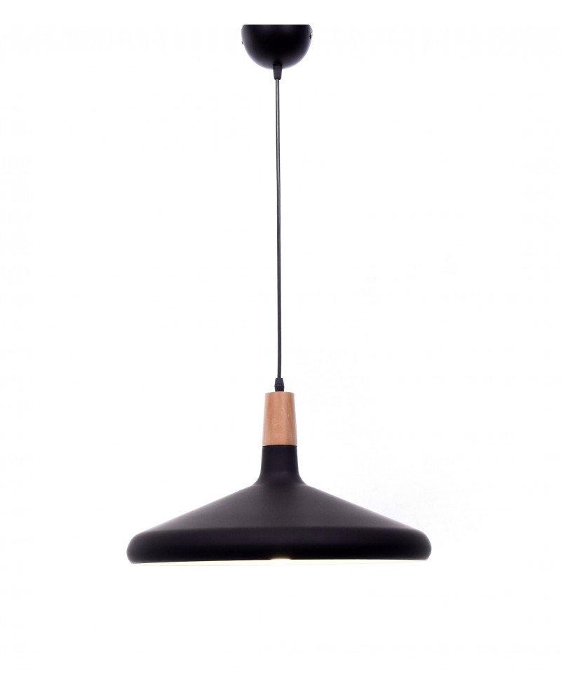 lampada a sospensione in metallo nera per ufficio economica 3 test