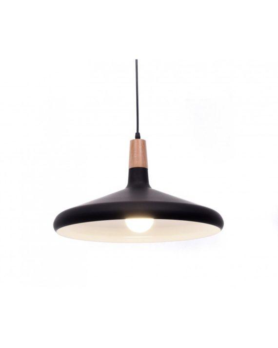 lampada a sospensione in metallo nera per ufficio economica