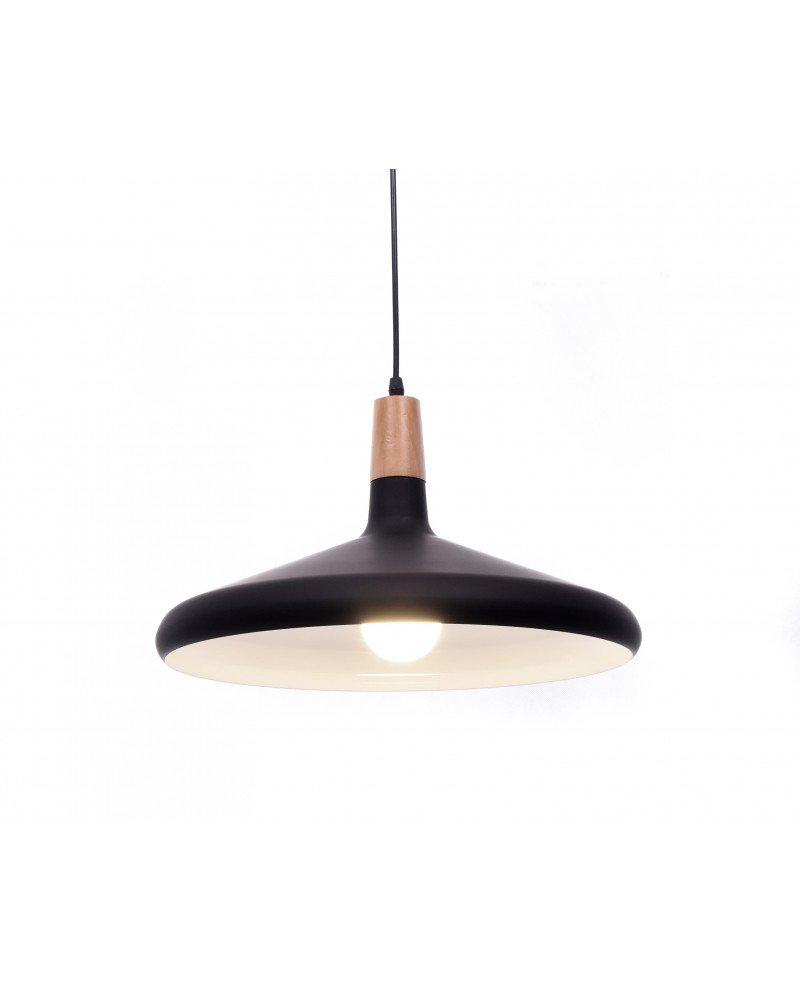 lampada a sospensione in metallo nera per ufficio economica 4 test