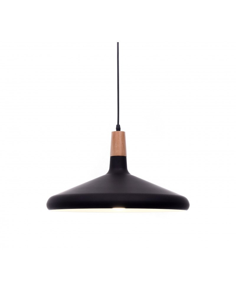 lampada a sospensione in metallo nera per ufficio economica test