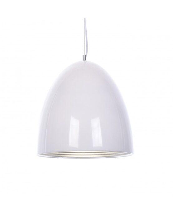 lampada a sospensione metallo bianco vetro offerta