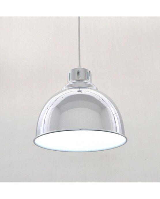 lampada cromata vintage industriale anni 50 design esclusivo