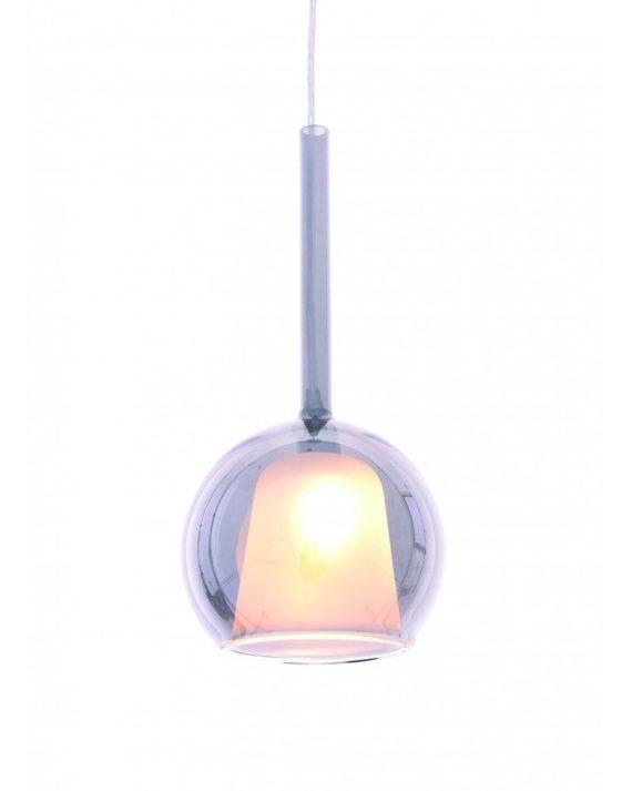 lampada design in vetro soffiato priola bianca