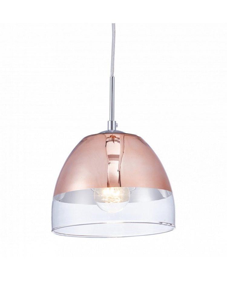 lampada design oro rosa a forma di campana