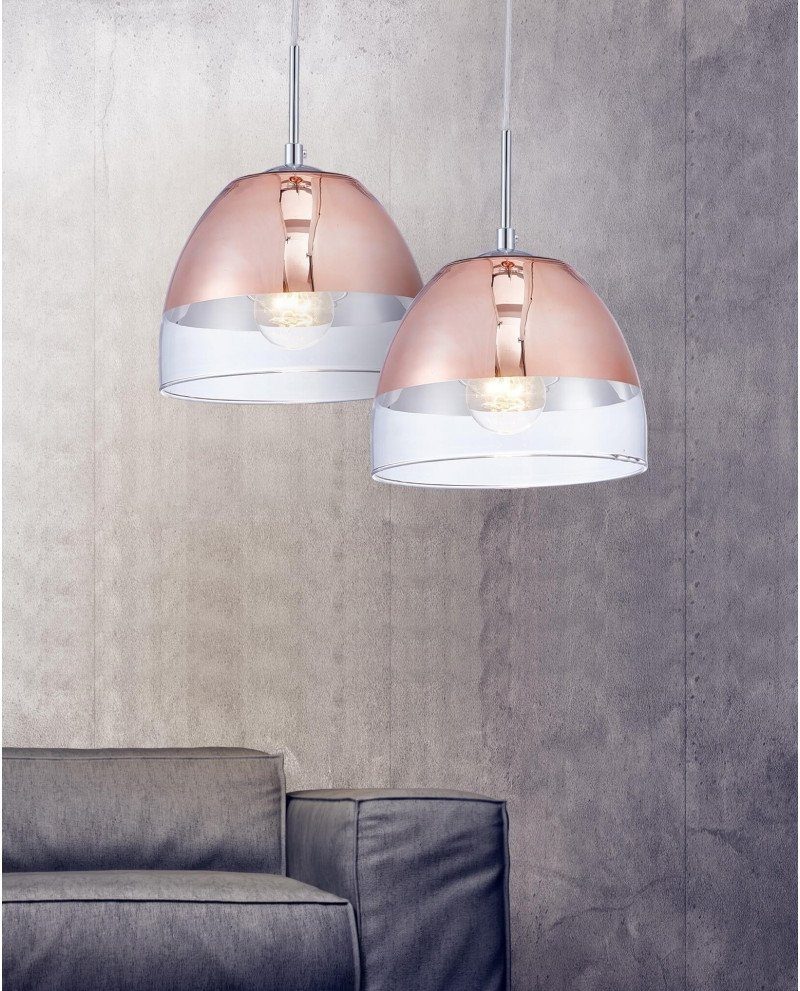 lampada design oro rosa a forma di campana test