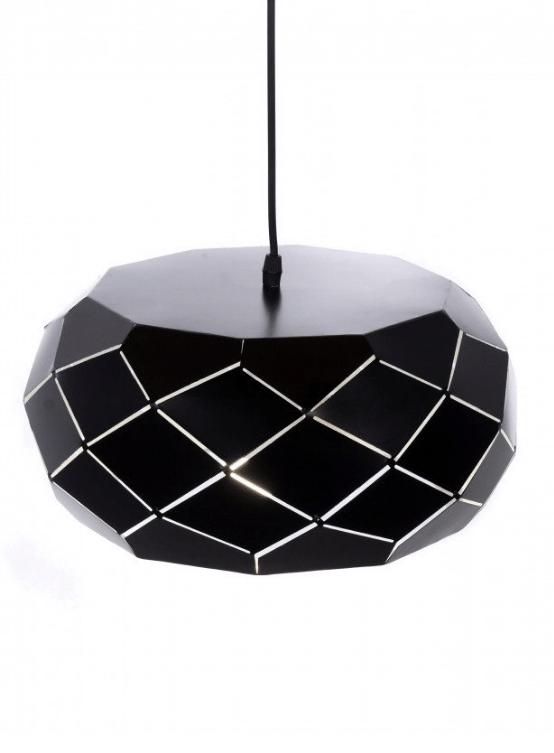 lampada moderna sospensione metallo nero