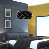 lampada moderna stanza letto metallo nero opaco design particolare
