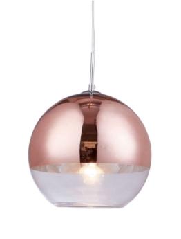 lampade salotto sfera vetro oro rosa