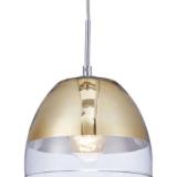 lampada sospensione a forma di campana color oro
