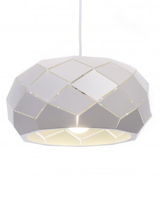 lampada a sospensione in metallo moderna diametro 35 cm