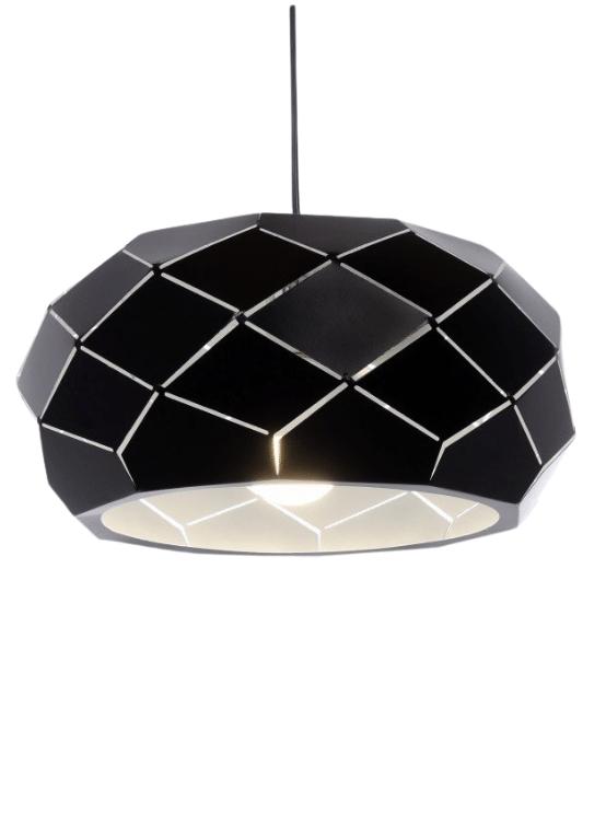 lampada sospensione metallo nero opaco