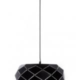 lampada sospensione moderna paralume metallo nero opaco