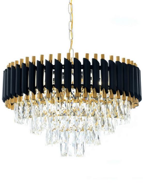 lampadario cristalli pendenti cascata classico