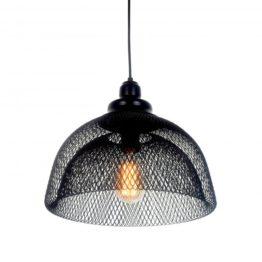 lampadario da soffitto in rete metallica nero