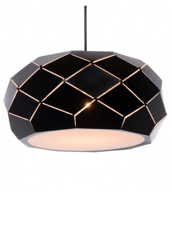 lampada moderna camera da letto metallo nero rokka