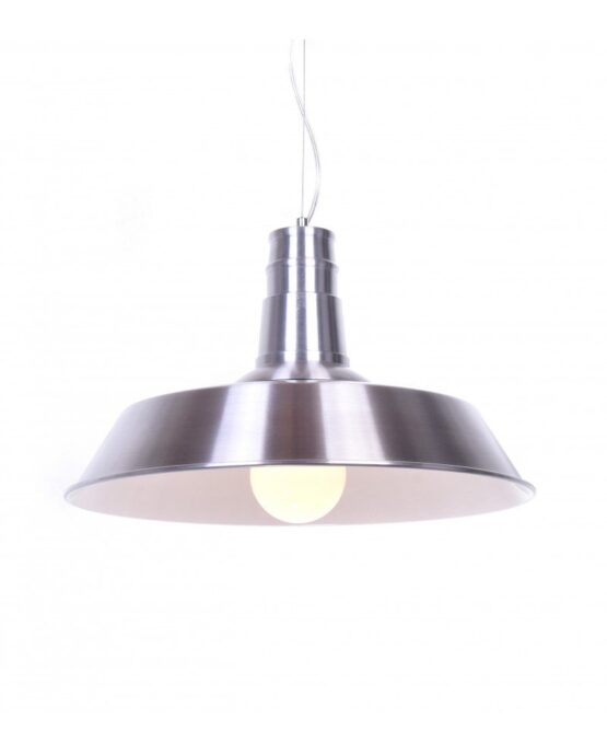 Lampada vintage industriale stile fabbrica in metallo spazzolato