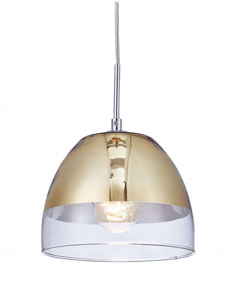 lampadario sospensione design moderno dorato a forma di campana 3 test