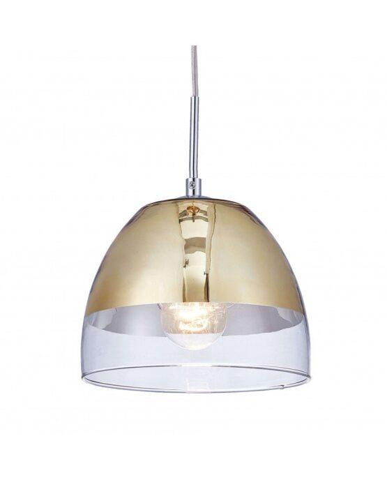lampadario sospensione design moderno dorato a forma di campana