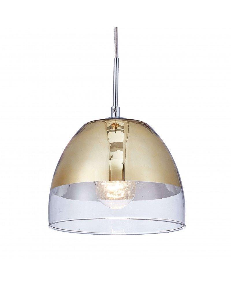 lampadario sospensione design moderno dorato a forma di campana 6 test