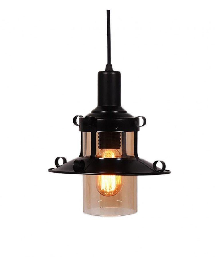 lampadario stile marina lanterna nera