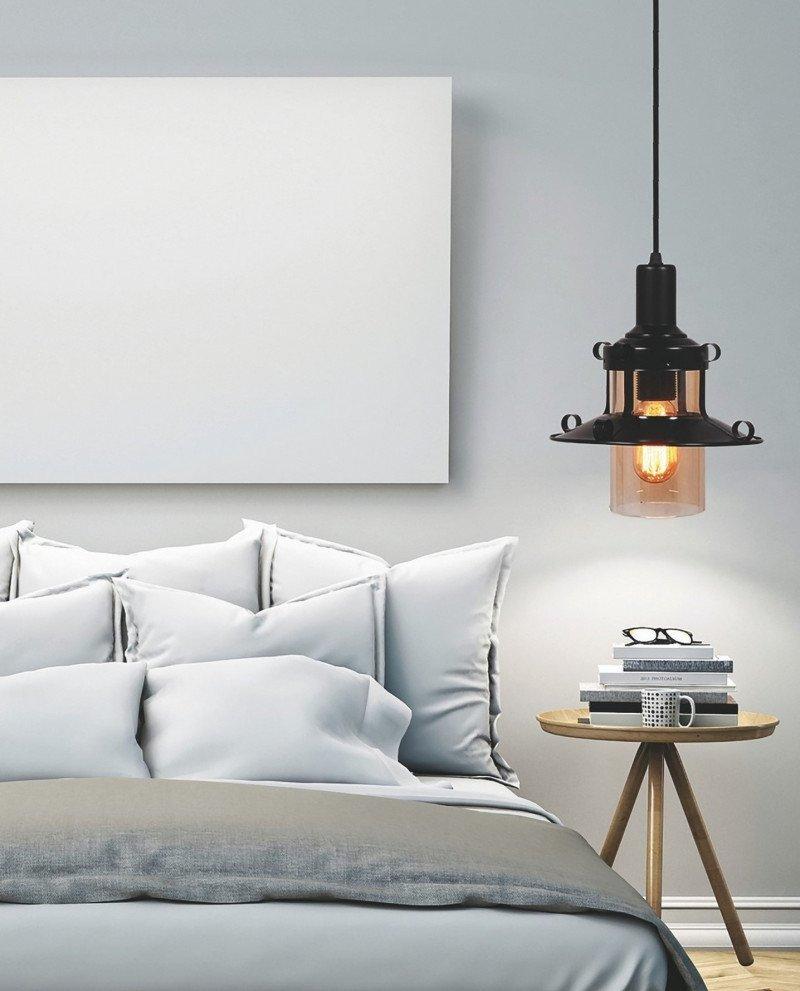 lampadario stile marina lanterna nera 2 test