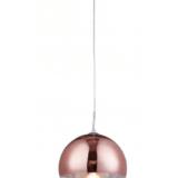 lampade a sospensione sfere vetro oro rosa per salotto