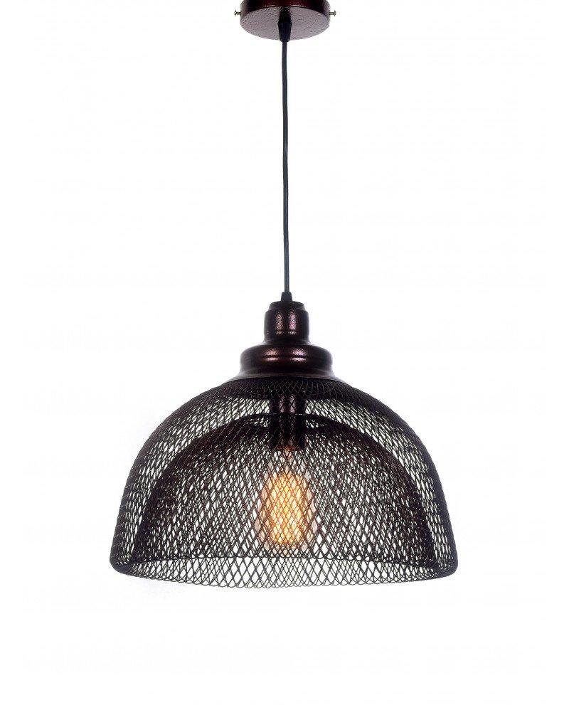 lampadario da soffitto in rete metallica bronzo  1 test