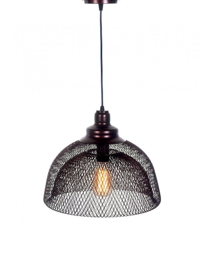 lampadario da soffitto in rete metallica bronzo  2 test