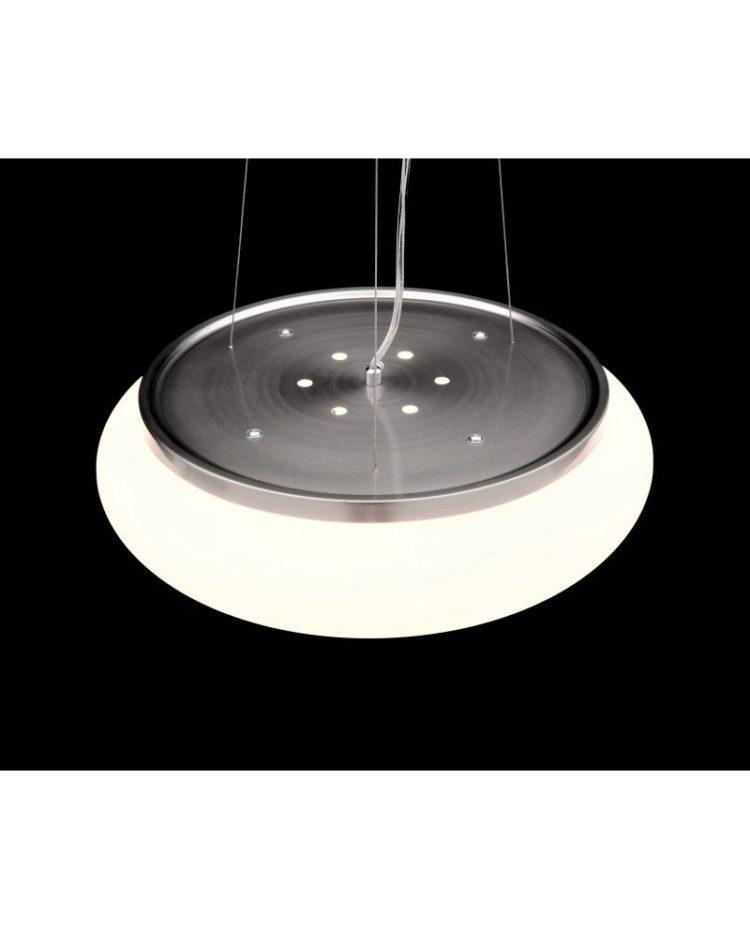 Lampadario 5 luci vetro satinato moderno a sospensione