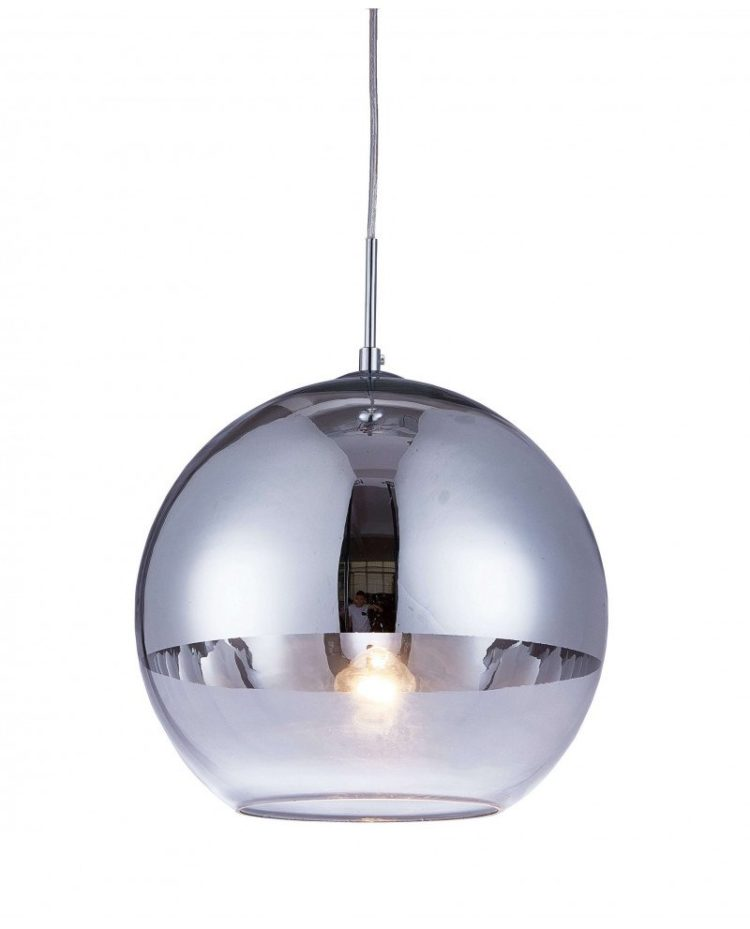 Lampadario a sospensione moderno in vetro Argento