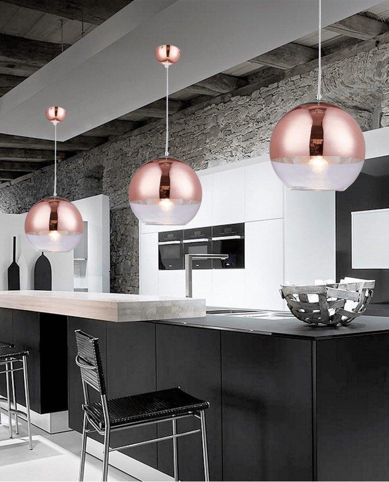 Lampadari Moderni Salotto.Lampadario Moderno Salotto A Sospensione Oro Rosa D30